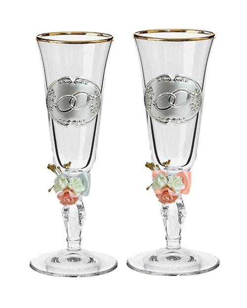 Набор свадебных бокалов Ретро №25 в картонной коробке