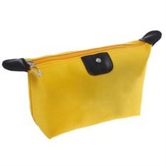 Косметичка-сумочка на молнии (цвет: желтый)