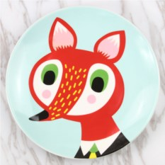 Прикольная тарелка Красная лисица