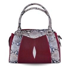 Женская сумка из кожи ската и питона