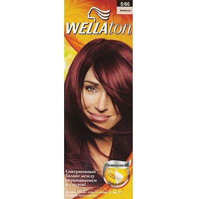 Крем-краска для волос Wellaton 5/66. Баклажан