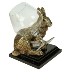 Коньячница с подогревом Золотой кролик