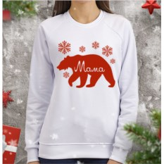 Женский свитшот Мама медведица