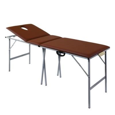 Складной трехсекционный массажный стол со стальным каркасом