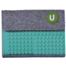Голубой пиксельный кошелек Pixel felt small wallet