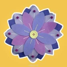 Набор для шитья из фетра Сиреневый цветок