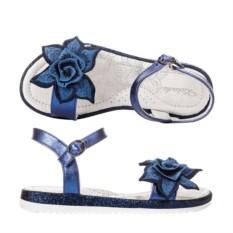 Синие летние открытые босоножки Kakadu Цветок