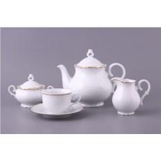 Чайный сервиз из 15 предметов на 6 персон Офелия