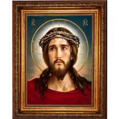 Икона на холсте Иисус Христос в терновом венце