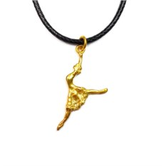 Кулон Балерина (позолоченное серебро)
