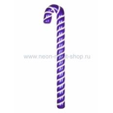 Елочная игрушка Карамельная палочка фиолетово-белого цвета