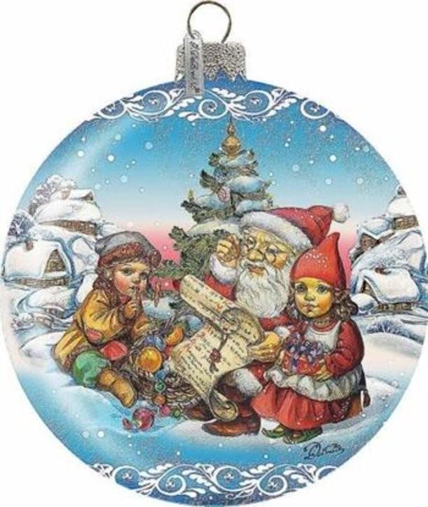 Новогоднее украшение-сувенир Дед Мороз и дети