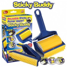 Многоразовый липкий валик для чистки Sticky Buddy