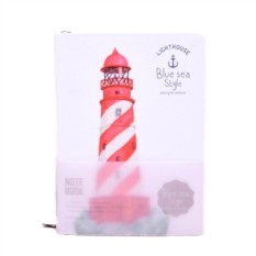 Блокнот Lighthouse White red