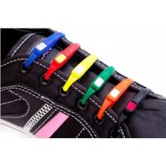 Цветные силиконовые шнурки