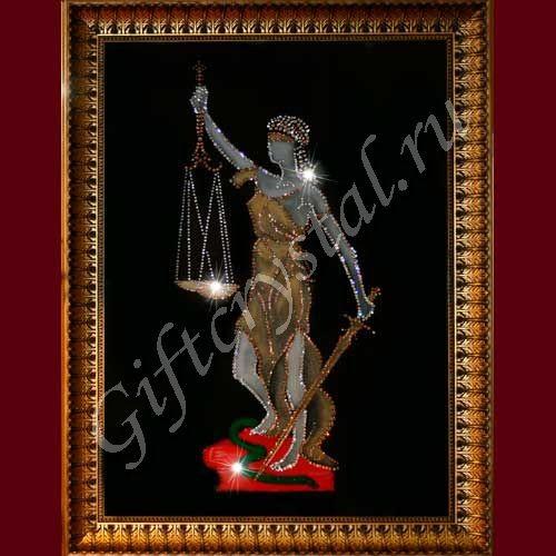 Картина со стразами Богиня правосудия Фемида