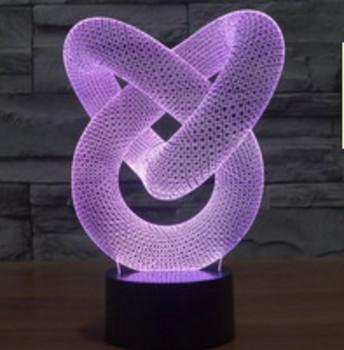 3D светильник Спираль