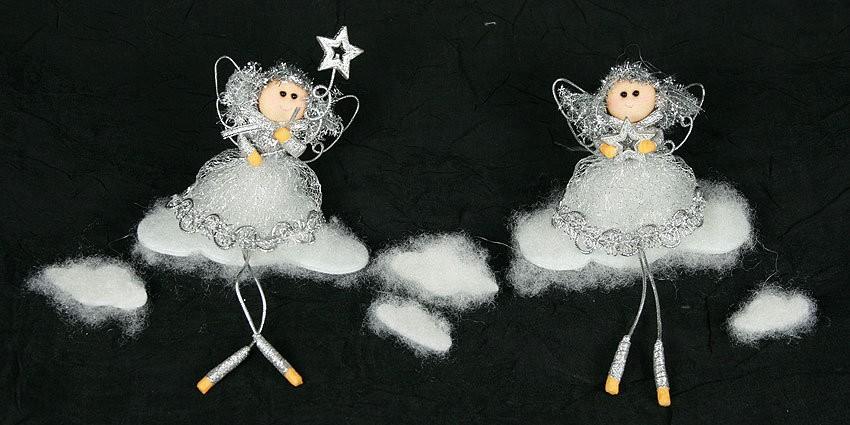 Новогодняя фигурка Ангелы на облаке