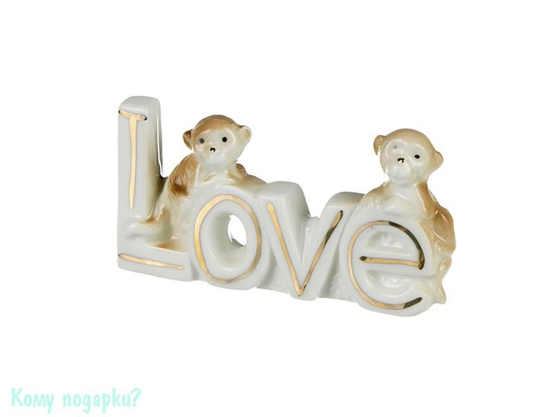 Фигурка «Обезьянки со словом LOVE», h=5 см