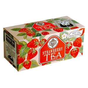 Чай черный с ароматом клубники