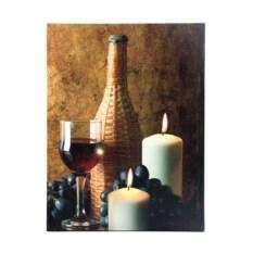 Картина с изображением вина и LED подсветкой