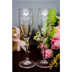 Набор бокалов для шампанского с вашим текстом