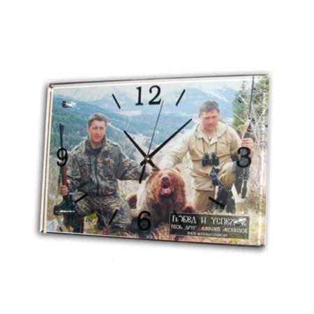 Настенные часы Рыболов-охотник