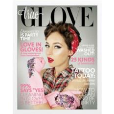 Розовые перчатки True Glove М