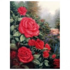 Картина-раскраска по номерам на холсте Красные розы