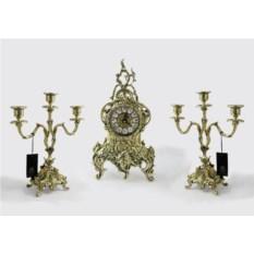 Каминные часы с канделябрами Дон Луиш