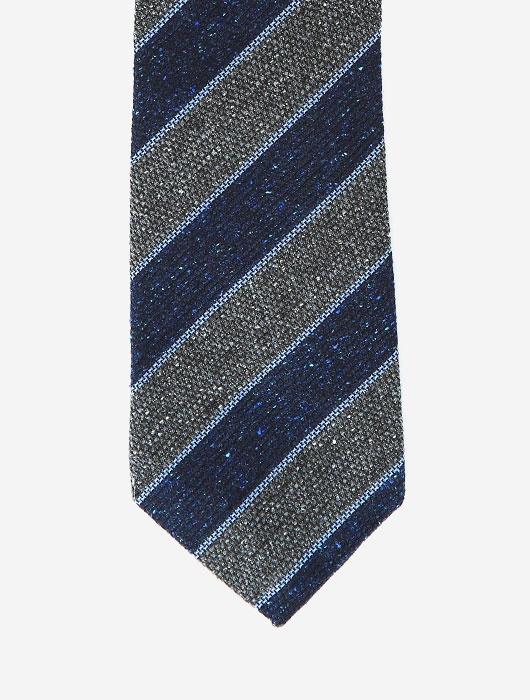 Полосатый галстук синих и серых тонов Calabrese