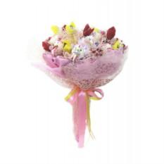 Букет из конфет Зайчата в розовом