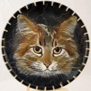 Тарелка декоративная «Кот»
