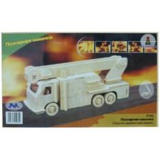 Деревянная сборная модель «Пожарная машина»