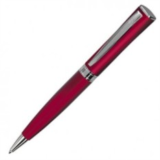 Красная с серебристым шариковая ручка Wizard