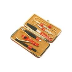 Маникюрный набор GD из 7 предметов в футляре из кожи
