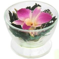 Цветы в стекле Композиция из орхидей