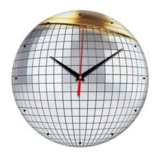 Настенные часы из стекла Дискобол