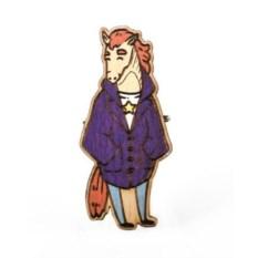 Значок WafWaf Конь в пальто