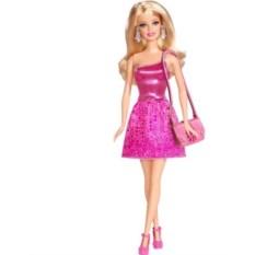 Кукла Барби Блестящая Студия (розовое платье)