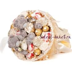 Букет из игрушек и конфет Конфетная свадьба