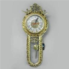 Золотые настенные часы с маятником