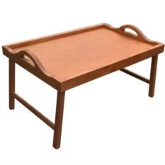 Столик для завтрака в постель с ручками (цвет — вишня)