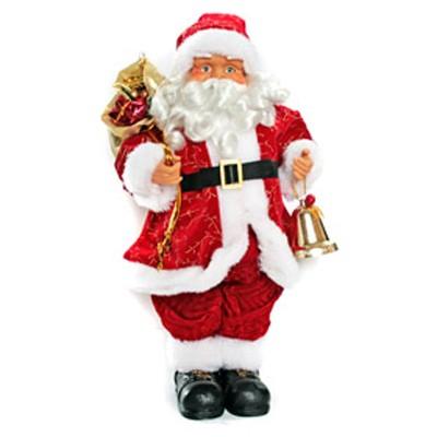 Дед мороз с мешком подарков и колокольчиком