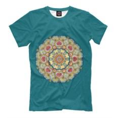 Бирюзовая мужская футболка Любовь