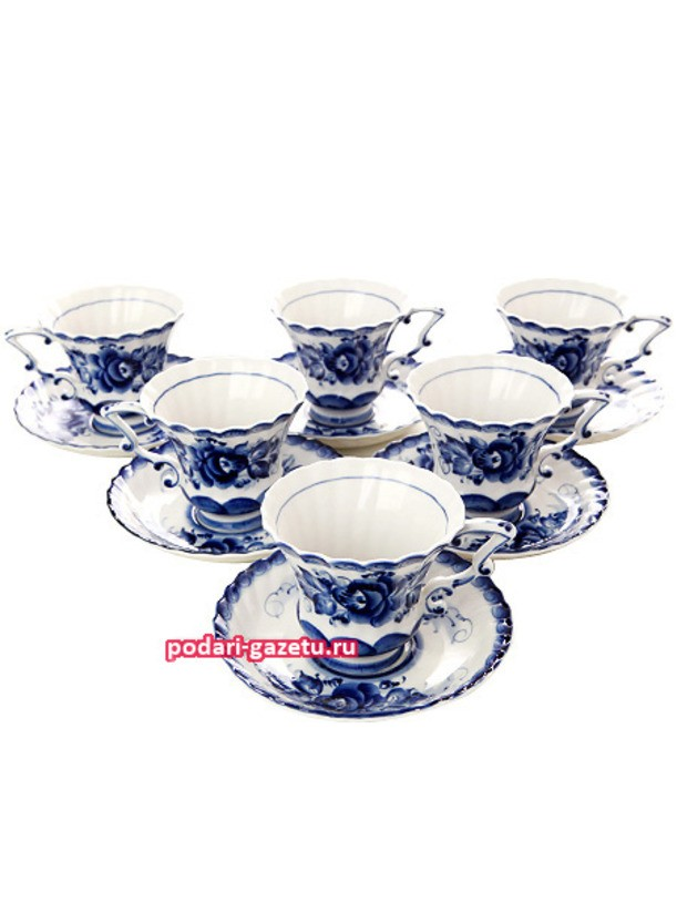 Чайный сервиз Гжель