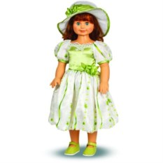 Кукла Милана в зеленом платье