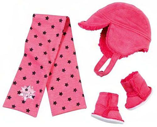 Шапка, шарф, сапожки для куклы BABY born, ZAPF CREATION