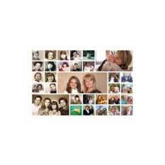 Коллаж из семейных фотографий на холсте
