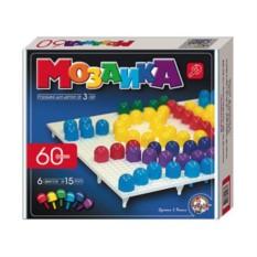 Пластмассовая детская мозаика из 6 цветов